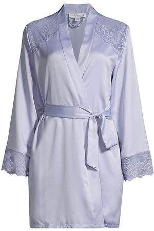 In Bloom Women's Because Wrap Lace Robe - Peri - Size Medium