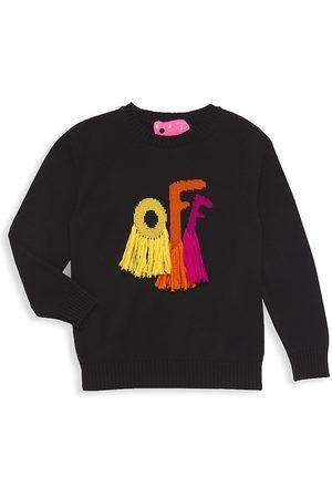 OFF-WHITE Little Girl's & Girl's Rounded Logo Sweater - Multi - Size 8