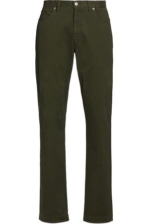 Saks Fifth Avenue Men's Slim-Fit Five-Pocket Pants - Dark - Size 31