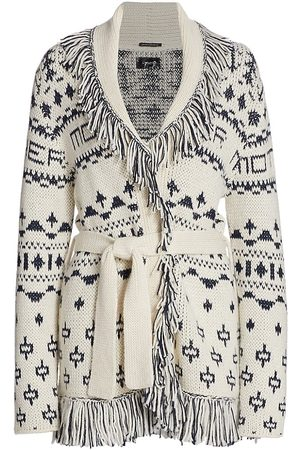 Mother Women's The Belted Fringed Cardigan - - Size Large