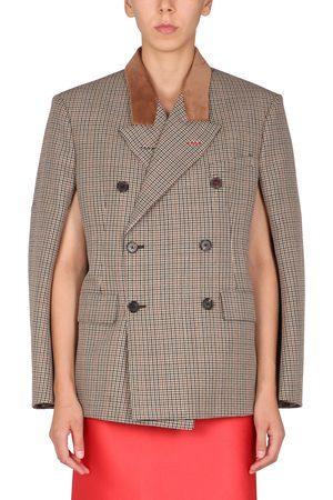 Maison Margiela Women Ponchos & Capes - Pied de poule cape jacket