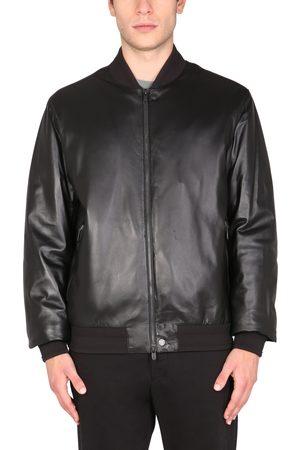 Z Zegna Leather bomber