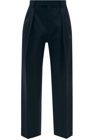 VALENTINO Pleated Wool-twill Trousers - Mens