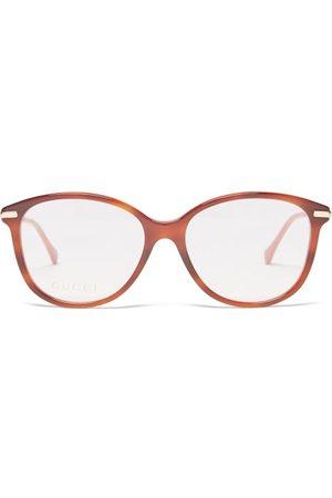 Gucci Horsebit Round Acetate And Metal Glasses - Womens