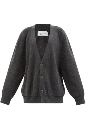 Raey Recycled Wool-blend Pocket Front Cardigan - Womens - Charcoal