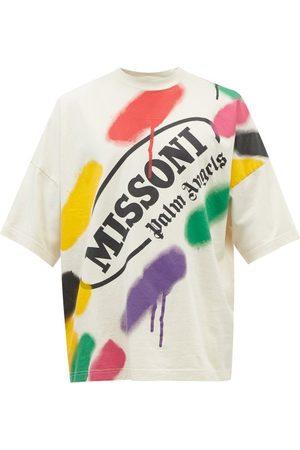 Palm Angels X Missoni Logo-print Cotton-jersey T-shirt - Mens