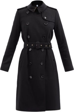 Burberry Kensington Felted-cashmere Trench Coat - Womens