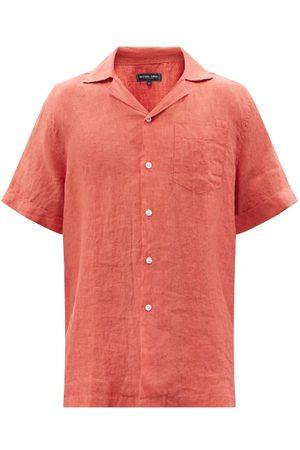 Frescobol Carioca Cuban-collar Linen Short-sleeved Shirt - Mens - Light