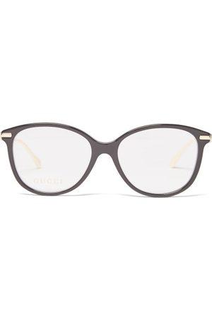 Gucci Horsebit Round-frame Glasses - Womens