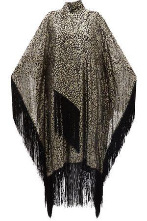 Taller Marmo Mrs Ross High-neck Fringed Silk-blend Kaftan Dress - Womens