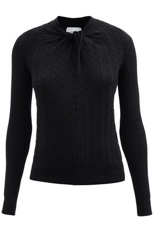 Erdem Rae Twisted-neckline Cotton-blend Sweater - Womens