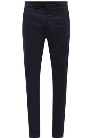 Nudie Jeans Men Chinos - Slim Adam Organic Cotton-blend Chino Trousers - Mens - Dark Navy