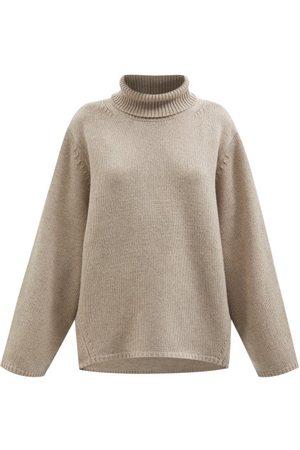Totême Roll-neck Wool-blend Sweater - Womens