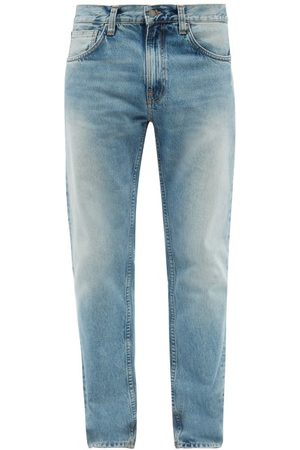 Nudie Jeans Men Straight - Gritty Jackson Organic-cotton Straight-leg Jeans - Mens - Light