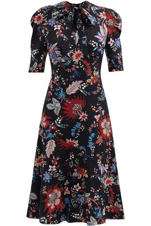 Erdem Women Printed Dresses - Norene Hogarth-print Crepe De Chine Midi Dress - Womens - Multi