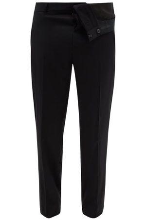 Y/Project Asymmetric Virgin Wool-twill Trousers - Mens