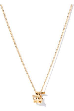 Saint Laurent Ysl Plaque Necklace - Womens