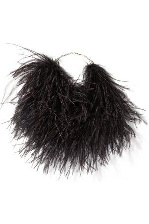 Saint Laurent Feather Choker Necklace - Womens