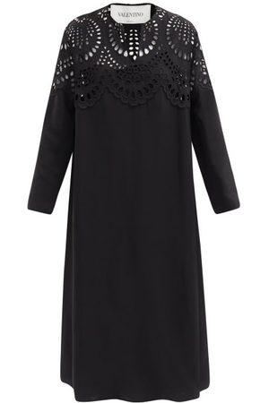 VALENTINO Sangallo-lace Crepe Midi Shift Dress - Womens
