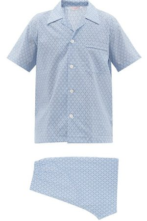 DEREK ROSE Nelson Geometric-jacquard Cotton-twill Pyjamas - Mens - Multi