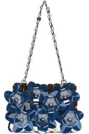 Paco rabanne Sparkle Flower-appliqué Sequinned Shoulder Bag - Womens - Multi