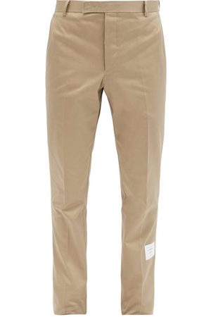 Thom Browne Tricolour-tab Cotton Chino Trousers - Mens