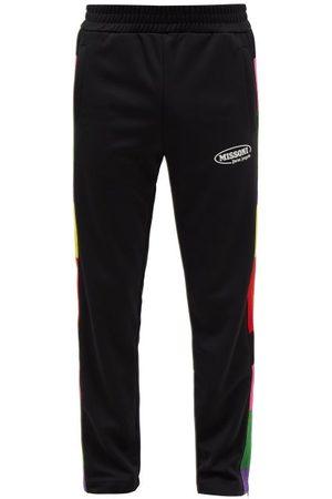 Palm Angels X Missoni Striped-insert Jersey Track Pants - Mens