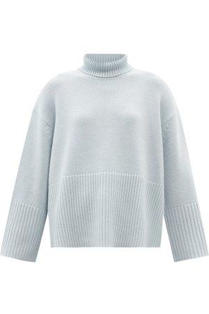 Totême Women Turtlenecks - Roll-neck Cashmere-blend Sweater - Womens - Light