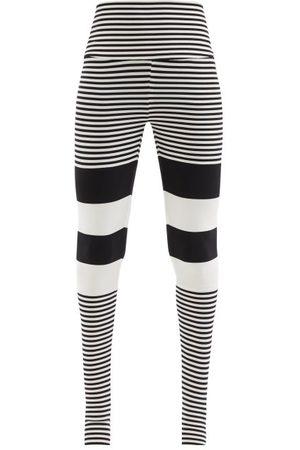 Norma Kamali High-rise Striped Jersey Leggings - Womens - Stripe