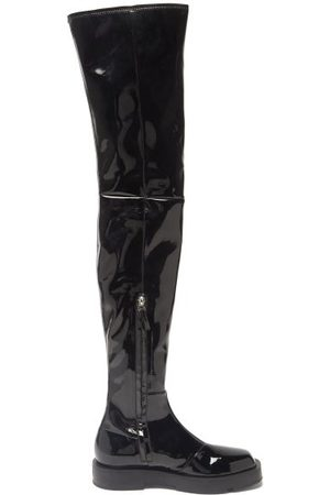 Givenchy Women Thigh High Boots - Patent-leather Over-the-knee Boots - Womens