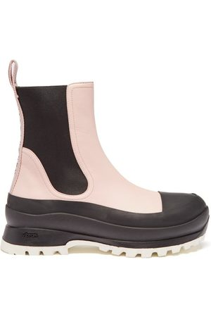 Stella McCartney Women Chelsea Boots - Trace Chunky-sole Faux-leather Chelsea Boots - Womens - Light