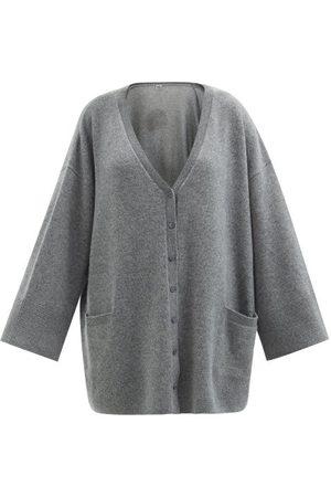 Totême Oversized Cashmere Cardigan - Womens - Mid Grey