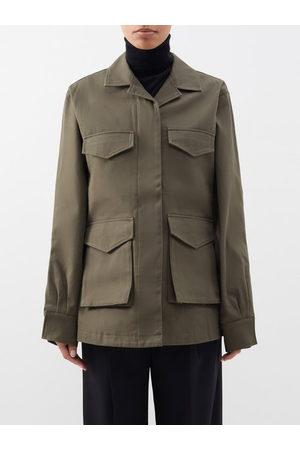 Totême Cargo-pocket Cotton-canvas Jacket - Womens - Khaki