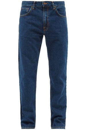 Nudie Jeans Men Straight - Gritty Jackson Organic-cotton Straight-leg Jeans - Mens - Dark