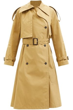 Loewe Double-breasted Belted Cotton-twill Trench Coat - Womens - Camel