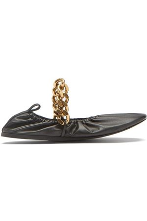 Stella McCartney Falabella Chain Faux Leather Ballet Flats - Womens
