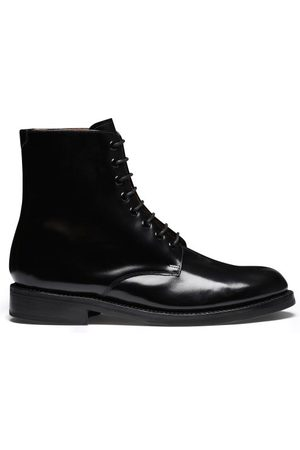 GRENSON Hadley Leather Derby Boots - Mens