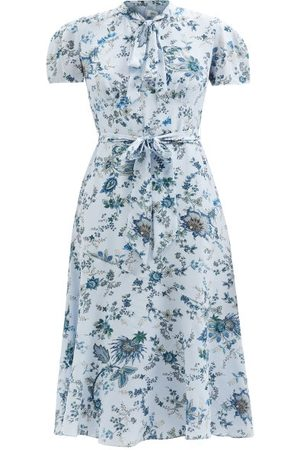 Erdem Elmer Hogarth-print Silk Dress - Womens