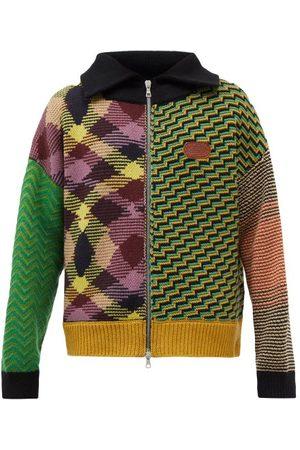 Palm Angels X Missoni Patchwork Wool-blend Cardigan - Mens - Multi