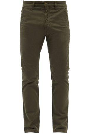 Nudie Jeans Men Chinos - Slim Adam Organic Cotton-blend Chino Trousers - Mens - Khaki