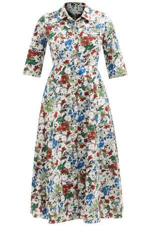 Erdem Women Casual Dresses - Kassia Charleston-print Poplin Shirt Dress - Womens - Multi