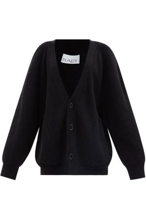 Raey Recycled Wool-blend Pocket Front Cardigan - Womens - Navy