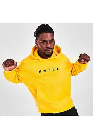 adidas Men Hoodies - Men's Originals Manga Hoodie in Yellow/Bold Size X-Small 100% Cotton