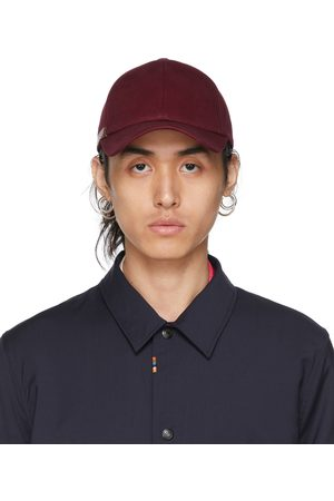 Paul Smith Burgundy Signature Stripe Cap