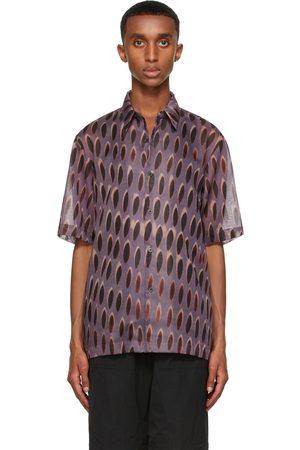 DRIES VAN NOTEN Purple Len Lye Edition Graphic Short Sleeve Shirt