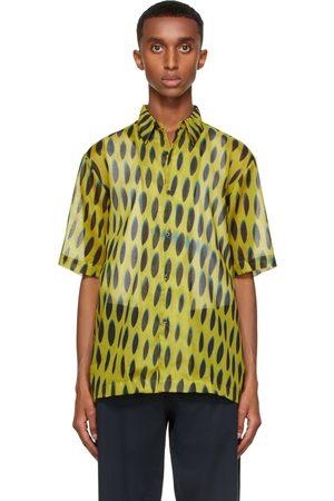 DRIES VAN NOTEN Yellow Len Lye Edition Graphic Short Sleeve Shirt