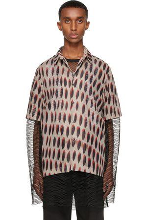 DRIES VAN NOTEN Grey Len Lye Edition Graphic Short Sleeve Shirt