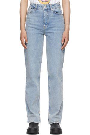 Ganni Blue Comfort Stretch Slim-Fit Jeans