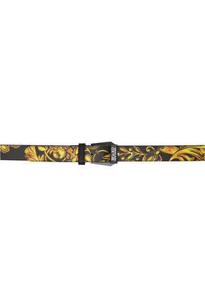 VERSACE Black Regalia Baroque Print Belt