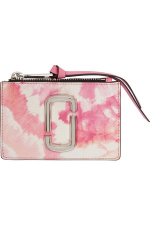 Marc Jacobs Pink & White Tie Dye 'The Snapshot' Top-Zip Card Holder
